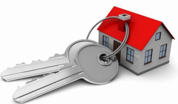 ilustrasi rumah dan kunci
